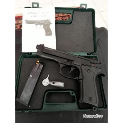 Pistolet automatique 9 mm . Modèle 92 . AUTO  . État neuf . Tiré  4 fois . Catégorie : 9227