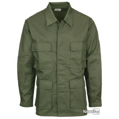 CHEMISE MILITAIRE US BDU VERT OD FOSTEX AIRSOFT TAILLES S