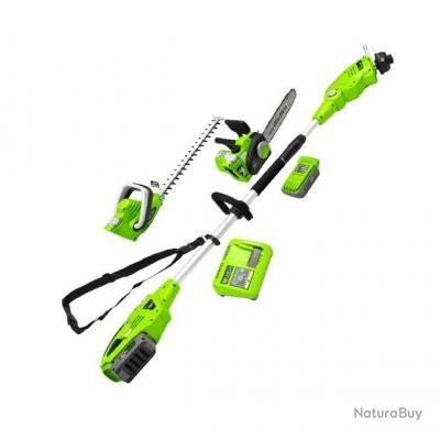 Zipper Outil De Jardin Multifonctions A Batterie 3en1 40v 2ah Li Ion Zi Gps40v Akku