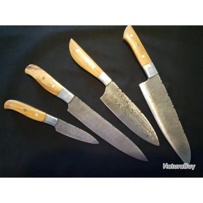 set de cuisine 4 couteaux sans prix de réserve