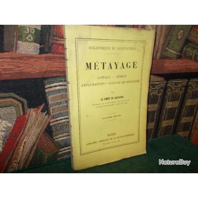 Metayage Le Comte De Gasparin Livre Ancien 19e Siecle