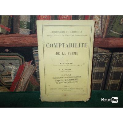 Comptabilite De La Ferme Dubost Livre 19e Siecle