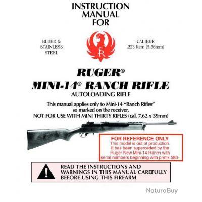 Manuel carabine RUGER MINI 14 MINI 30