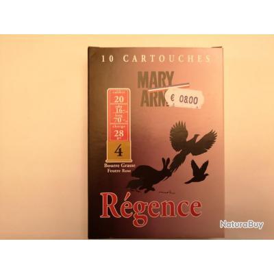 1 boîte de cartouches Mary Arm Régence cal. 20 DESTOCKAGE!!!
