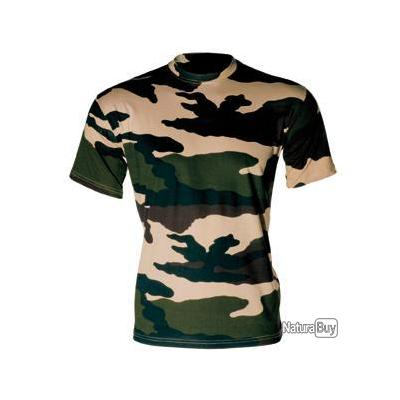 TEE SHIRT CAMOUFLAGE CENTRE EUROPE COL ROND ET MANCHES COURTES