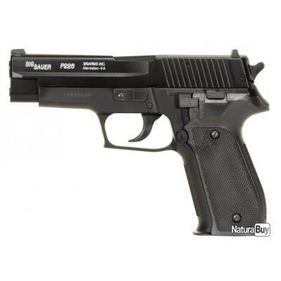 PACK SIG SAUER P226 SPRING CULASSE METAL SYSTEME BAX HPA 0.6 JOULE + 5 CIBLES HUMAINE POLICE 50 X 70