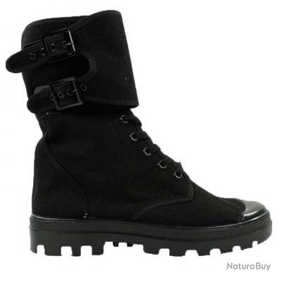 Lacet Montantes Metal En Et 38 A Toile Chaussures Noir Boucle Nnk8Ow0PX