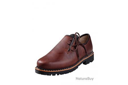 Chaussures folkloriques style bavarois Couleur marron.