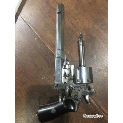 vends très rare revolver système  bronne cal 9 mm poudre noire  superbe état aucun défaut comme neuf