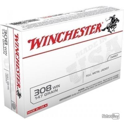 20 MUNITIONS WINCHESTER 308 WIN 147.GRS FMJ