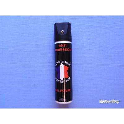 Gel lacrymogène au poivre. 75 ml
