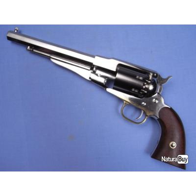 Révolver Remington 1858 nickelé. Cal.44. Pietta