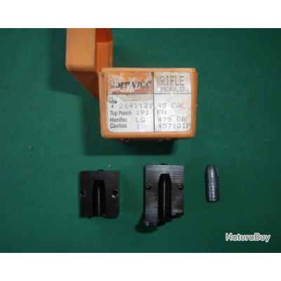 Moule à balles LYMAN,pour 45-70GVT, ref 457121, diam. 457, poids 475Grains