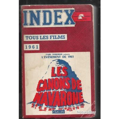 index de la cinématographie française 1961 analyse critique complète de tous les films , cinéma ,