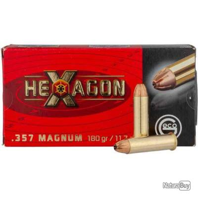 50 Munitions Geco 357Mag Hexagon 11.7g/180Grs