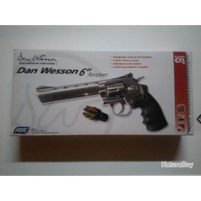 """Révolver co2 Dan Wesson 6"""" Argent"""