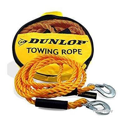 Corde Câble  De Traction Remorquage Automobile Dunlop 3000kg , 4M 2 Crochets