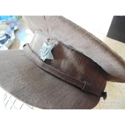 casquette Russe Polonais ww2 ramenée par prisonnier FR Soviétique Polonaise deuxième guerre mondiale