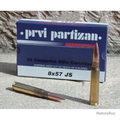 100 Munitions partizan 8x57JS (mauser) PROMO PARTIZAN!