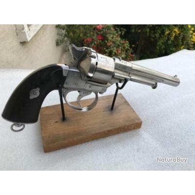 Revolver lefaucheux de marine md réglementaire ML 1858 cal 12 daté 1863 marqué jd tout au N° 877