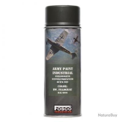 BOMBE DE PEINTURE MILITAIRE SPRAY FOSCO 400 ML BW FELD GRAU GRIS BOIS
