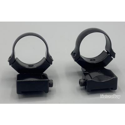 Colliers Acier Rusan avec extension - Rail de 19 mm (CZ 550) - Diamètre 30mm - Hauteur 15 mm MEDIUM