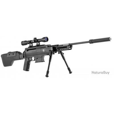 ( Ressort < 24 j)Carabine à air comprimé 7.5 à 24 J Black Ops sniper cal. 4,5 mm