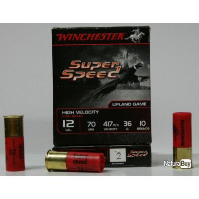CARTOUCHE WINCHESTER SUPER SPEED 36GR BOURRE JUPE PLOMBS DE CAL. 12 70 X10