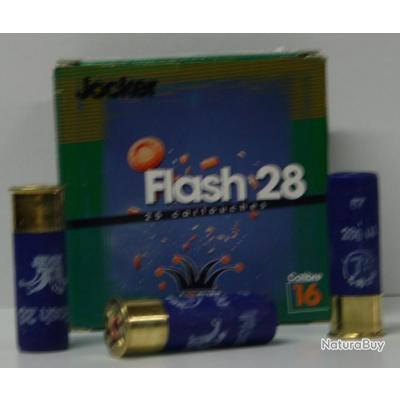 CARTOUCHE JOCKER FLASH 28 28GR BOURRE JUPE PLOMBS DE 7.5 CAL. 16/67 X25
