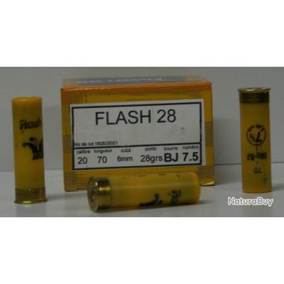 CARTOUCHE JOCKER FLASH 28 BOURRE JUPE PLOMBS DE 7.5 CAL. 20/67 X25