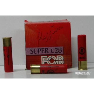 CARTOUCHE FOB SUPER 28 26GR BOURRE JUPE PLOMBS DE 6 CAL. 28/70 X25