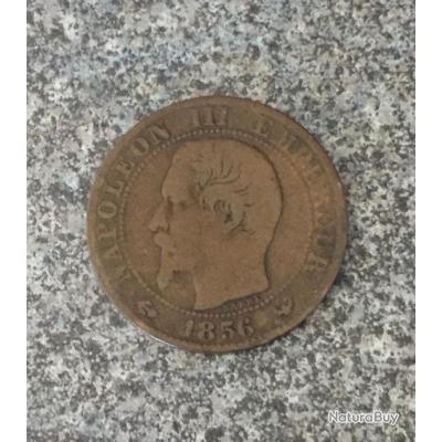 Cinq centimes Napoléon III 1856 //// One schilling Georges