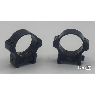 Colliers Acier Fixes Rusan - Rail WEAVER / PICCATINY - MEDIUM PLUS (12 mm) - diamètre 30mm