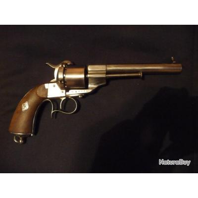 Revolver Lefaucheux  1854 de 12 mm à broche