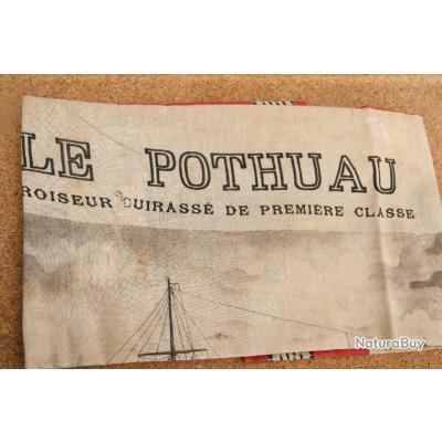 MOUCHOIR D'INSTRUCTION DE LA   ROYALE        LE      POTHUAU    CROISEUR CUIRASSE DE 1ERE CLASSE