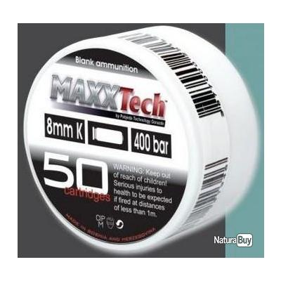 Boite de 50 Balles à blanc 8mm MaxxTech Pour Pistolets Ekol, Chiappa, Kimar, Walther, ISSC etc..