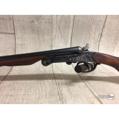 Fusil juxtaposé calibre 410 artisanal espagnol à clef serpentine
