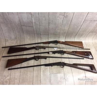 Lot de 5 carabines calibre  410 et 12mm