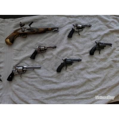 Revolvers à broche Lefaucheux