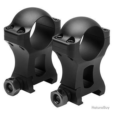 """Colliers de montage 25,4 mm (1"""") EXTRA HAUT pour rail 21mm Weaver Picatinny  NC STAR série HUNTER"""