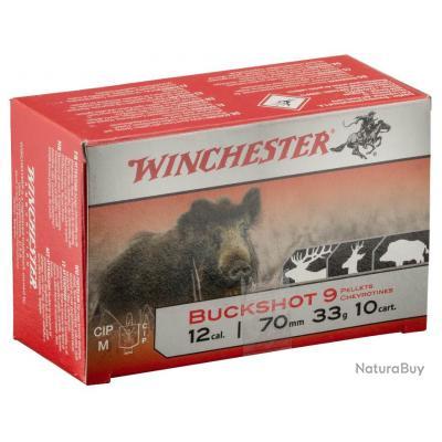 Cartouches Winchester chevrotines buckshot - Cal. 12/70