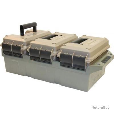 Caisse 3 boîtes pour le transport de munitions
