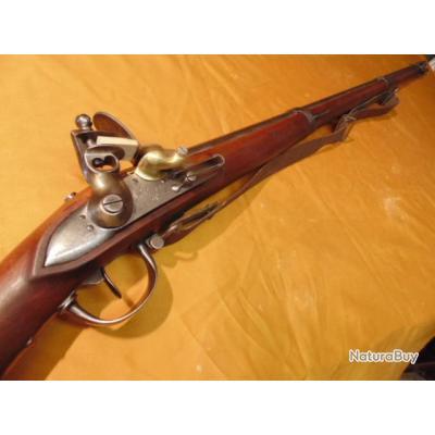 fusil à silex mod 1777 modif AN IX  bretelle Manu royale ST Etienne 1818 marquages profonds apte tir
