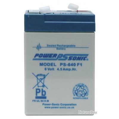 3 BATTERIE POWER SONIC MOD. PS-640 F1 POUR AGRAINOIR AUTOMATIQUE 6V 4,5 MAH