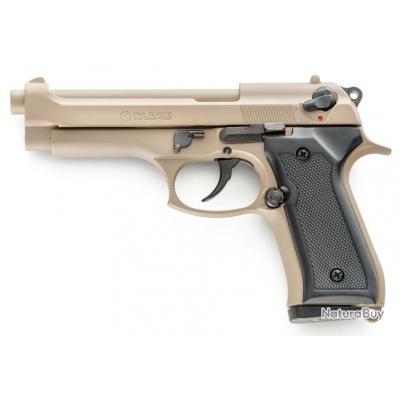 PROMO Pistolet a Blanc Semi Automatique Kimar Berreta 92 Tan + Malette + 10 balles 9MM + Lance Fusée