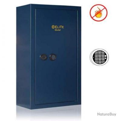 Coffre-fort Elite Gold 10 armes + coffre intérieur et serrure électronique / Anti-feu