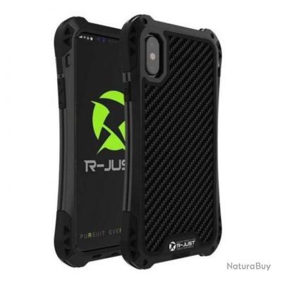 Coque anti-choc étanche Titan Premium pour Iphone - 5 couleurs - Noir / Iphone XS / Uni