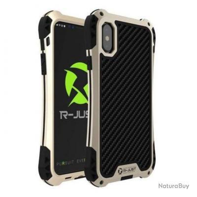 Coque anti-choc étanche Titan Premium pour Iphone - 5 couleurs - Or / Iphone 8 Plus / Noir