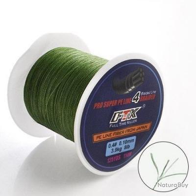 Fil de pêche Tresse FTK Killer - 115m - Vert / 35/100 - 22.3 kg