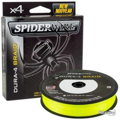 Tresse Spiderwire Dura 4 Jaune - 300 m - 40/100 - 45,0 kg